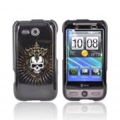 HTC FreeStyle Hard Case - Cross Skull on Black