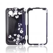 HTC Droid Incredible 2 Hard Case - Midnight Flowers on Black