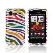 HTC Droid Incredible 2 Hard Case - Rainbow Zebra on White