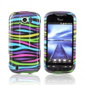 HTC Mytouch 4G Slide Hard Case - Rainbow Zebra on Black