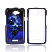 HTC One X Hard Case - Blue Skull