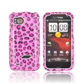 HTC Rezound Hard Case - Hot Pink/ Black Leopard