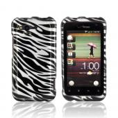 HTC Rhyme Hard Case - Black/ Silver Zebra