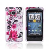 HTC EVO Shift 4G Hard Case - Pink Flowers on White