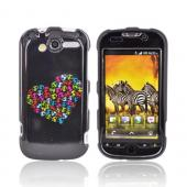 T-Mobile MyTouch 4G Hard Case - Colorful Skull Heart on Black