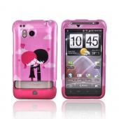 HTC Thunderbolt Hard Case - Pink Emo Love