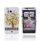 HTC Thunderbolt Hard Case - Brown Tree on White