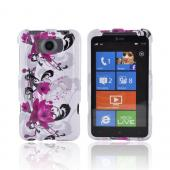 HTC Titan Hard Case - Pink Flowers on White