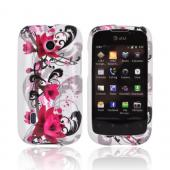 AT&amp;T Fusion U8652 Hard Case - Pink Flower Splash on White