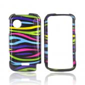Huawei M735 Hard Case - Rainbow Zebra on Black