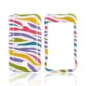 Huawei Ascend M860 Hard Case - Colorful Zebra on White