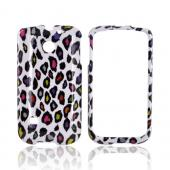 Huawei Ascend 2 M865 Hard Case - Rainbow Leopard on White