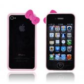 AT&amp;T/ Verizon Apple iPhone 4, iPhone 4S Hard Case Bumper w/ Bow - Pink/ Hot Pink