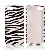 Apple iPhone 5 Hard Case - Black/ White Zebra