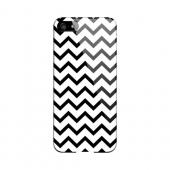 Black on White Geeks Designer Line Zig Zag Series Slim Hard Case for Apple iPhone 5/5S