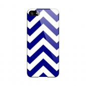 Navy Blue on White Geeks Designer Line Zig Zag Series Slim Hard Case for Apple iPhone 5