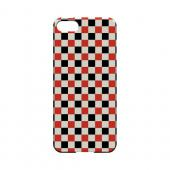 Red/ Black on Cream - Geeks Designer Line Checker Series Hard Case for Apple iPhone 5