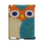 Orange/ Blue Owl Geek Nation Program Exclusive Jodie Rackley Series Hard Case for Apple iPad (3rd &amp; 4th Gen.)