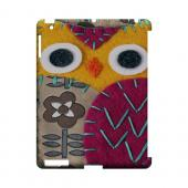 Yellow/ Purple Owl Geek Nation Program Exclusive Jodie Rackley Series Hard Case for Apple iPad (3rd & 4th Gen.)