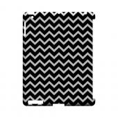 White on Black Geeks Designer Line Zig Zag Series Slim Hard Case for Apple iPad (3rd & 4th Gen.)