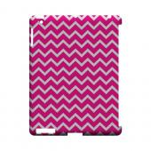 White on Hot Pink Geeks Designer Line Zig Zag Series Slim Hard Case for Apple iPad (3rd & 4th Gen.)