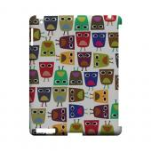 Quadrilateral Owl Configuration - Geeks Designer Line (GDL) Owl Series Hard Back Cover for Apple iPad (3rd & 4th Gen.)
