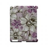 White and Violet Orchids - Geeks Designer Line Floral Series Hard Case for Apple iPad (3rd &amp; 4th Gen.)