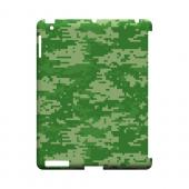 Green Digital Camouflage - Geeks Designer Line Slim Back Cover for Apple iPad (3rd & 4th Gen.)