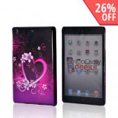 Hot Pink/ Purple Flowers and Heart Hard Case for Apple iPad Mini