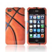 AT&amp;T/ Verizon Apple iPhone 4, iPhone 4S Hard Case - Orange/ Black Basketball