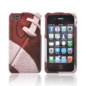 AT&amp;T/ Verizon Apple iPhone 4, iPhone 4S Hard Case - Brown/ White Football