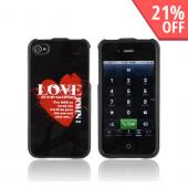 AT&amp;T/ Verizon Apple iPhone 4 Passion Series Hard Case - Red Love John 3:16 on Black
