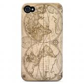Carte Generale du Monde 1676 - Geeks Designer Line Map Series Hard Case for Apple iPhone 4/4S
