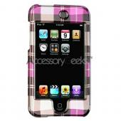 Apple iPod Touch 2 & 3nd Generation Hard Case - Plaid of Pattern of Hot Pink, Brown, Purple