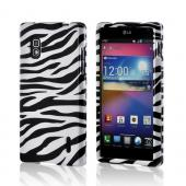 White/ Black Zebra Hard Case for LG Optimus G (AT&amp;T)