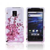 T-Mobile G2X Hard Case - Pink Flowers on White