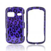 LG Rumor Reflex Hard Case - Purple/ Black Leopard