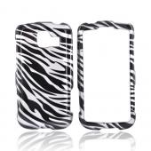 Luxmo LG Optimus S LS670 Hard Case - Silver/Black Zebra