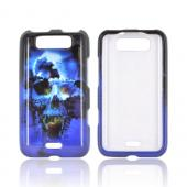 LG Viper 4G LTE/ LG Connect 4G Hard Case - Blue Skull