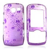 LG Lyric MT275 Hard Case - Bubbles on Purple