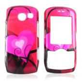 LG Lyric MT275 Hard Case - Red Hearts Design