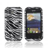 T-Mobile MyTouch Q Hard Case - Silver/ Black Zebra