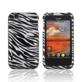 T-Mobile MyTouch Hard Case - Silver/ Black Zebra