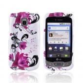 LG Optimus T / LG Thrive Hard Case - Pink Flowers on White