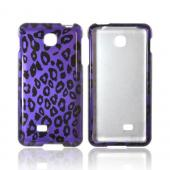LG Escape Hard Case - Purple/ Black Leopard