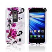 LG Nitro HD Hard Case - Pink Flowers on White