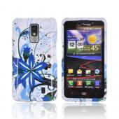 LG Spectrum Hard Case - Blue Flower Splash on White