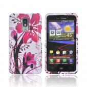 LG Spectrum Hard Case - Pink Flower Splash on White