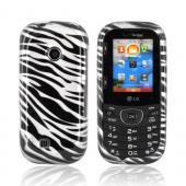 LG Cosmos 2 UN251 Hard Case - Silver/ Black Zebra