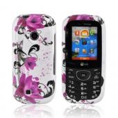LG Cosmos 2 VN251 Hard Case - Pink Flowers on White